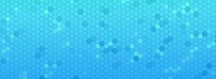 قالب زیبای ساده 6 ضلعی آبی