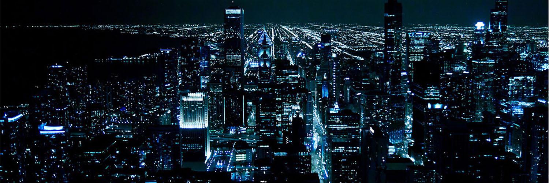 قالب زیبای شهر در شب