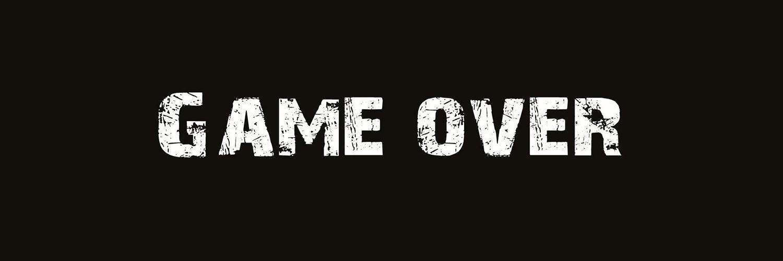 قالب زیبای گیم اور Game Over