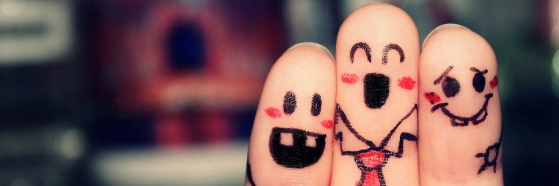 قالب زیبای انگشت های شاد