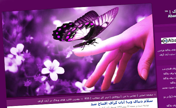قالب زیبای زیبای پروانه