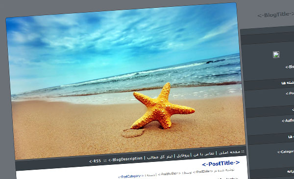 قالب زیبای ستاره دریایی