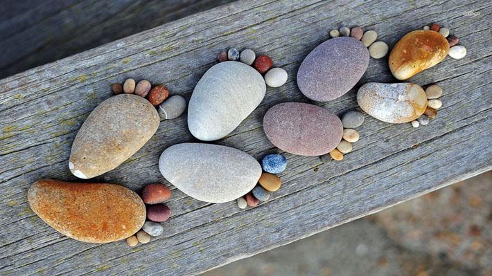 قالب زیبای سنگ های زیبا