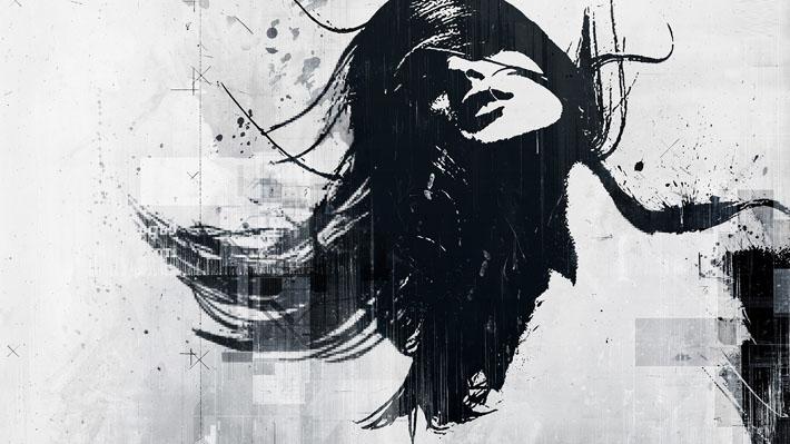 قالب زیبای دختر غمگین