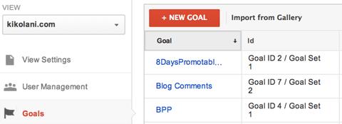 ایجاد یک هدف جدید با استفاده از دکمه New Goal+