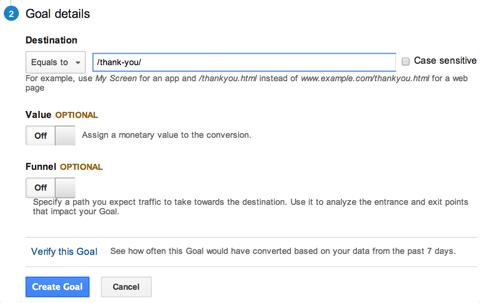 تعیین آدرس URL مقصد