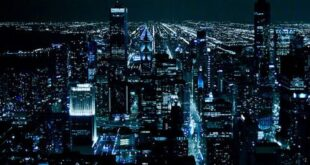 قالب وبلاگ شهر در شب , قالب وبلاگ شهر شیکاگو, قالب وبلاگ شهر, شهر شلوغ, شهر, شب